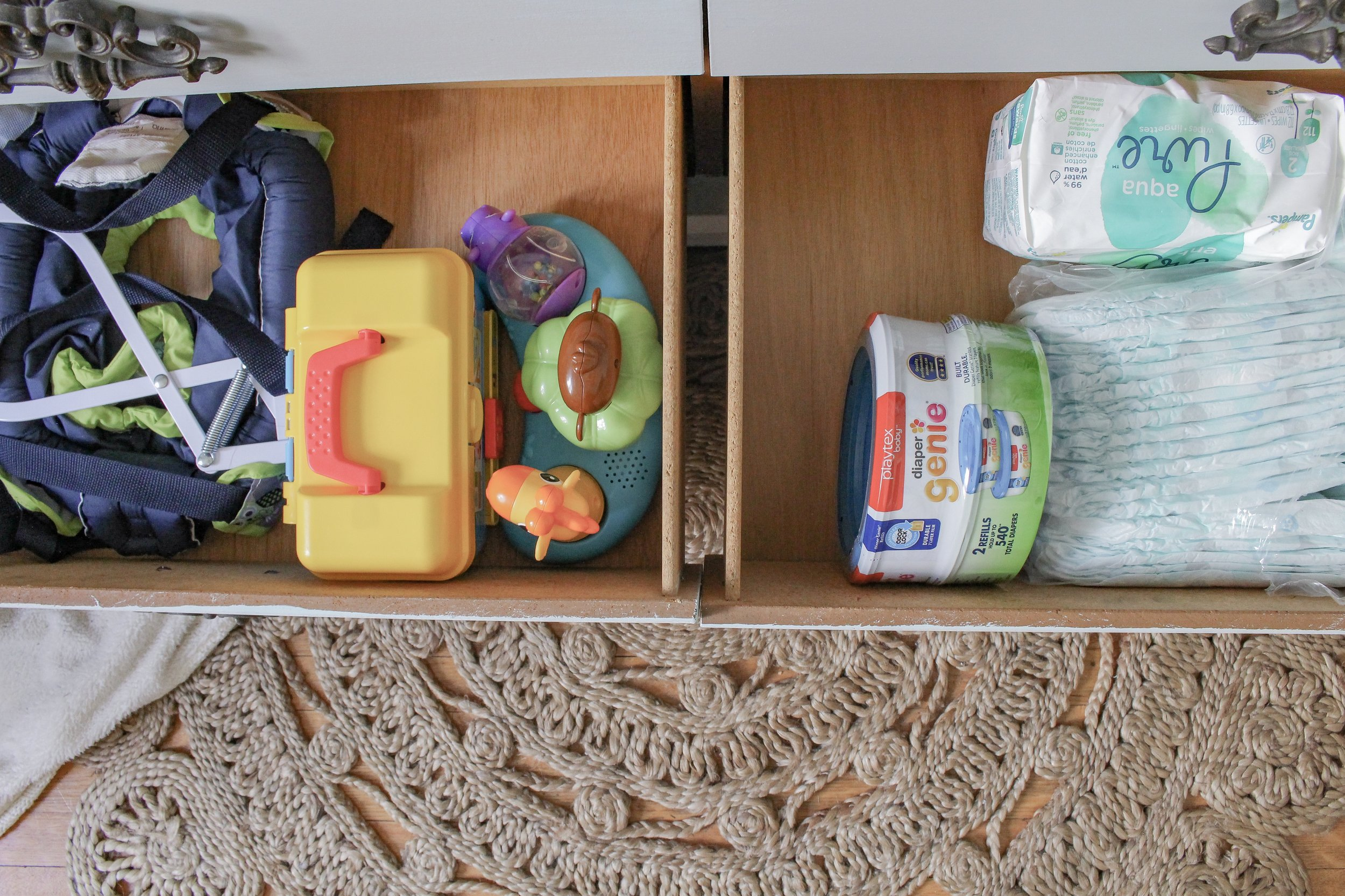 Diapers and toy organization