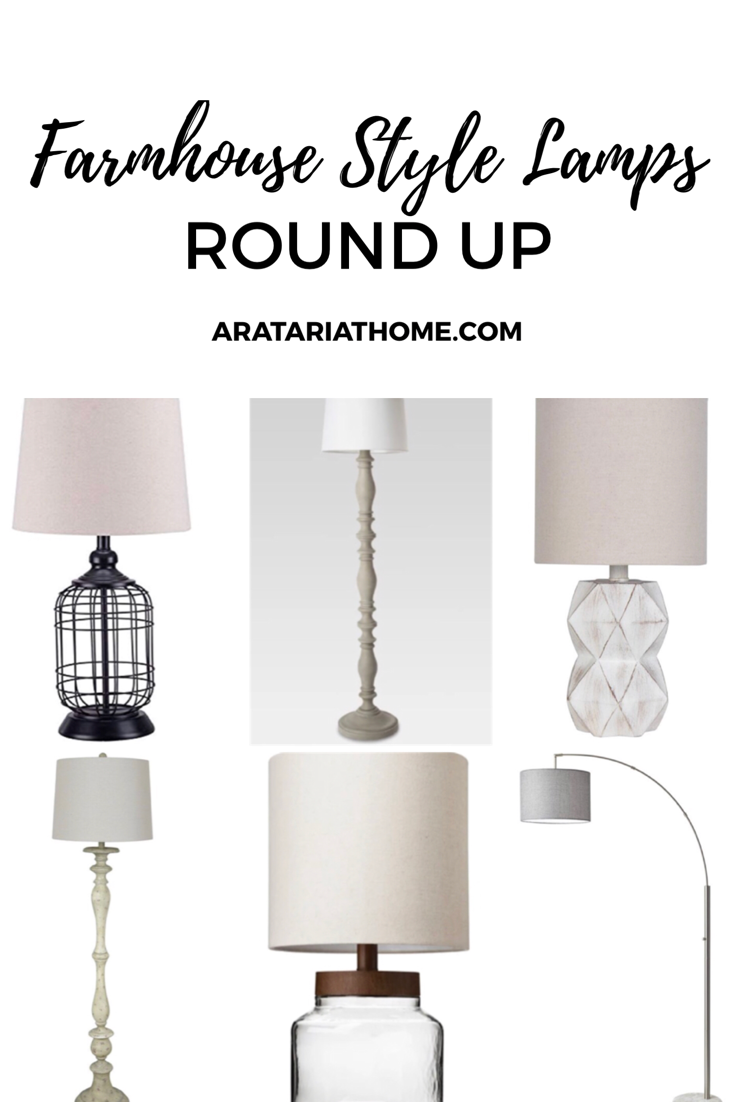 Farmhouse Style Lamps Round Up