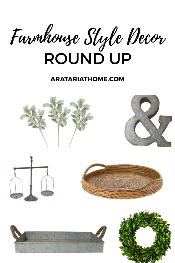 A Round Up of Farmhouse Style Decor
