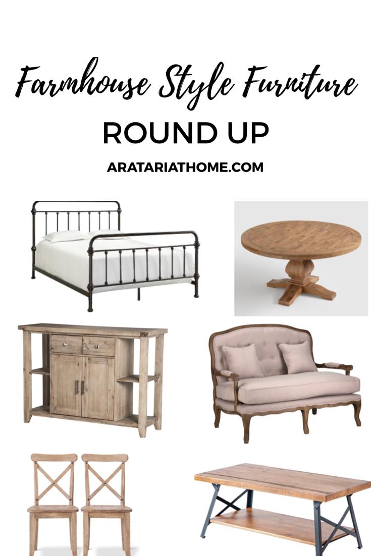 Farmhouse Style Furniture Round Up