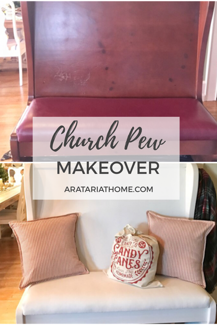 Church Pew Makeover