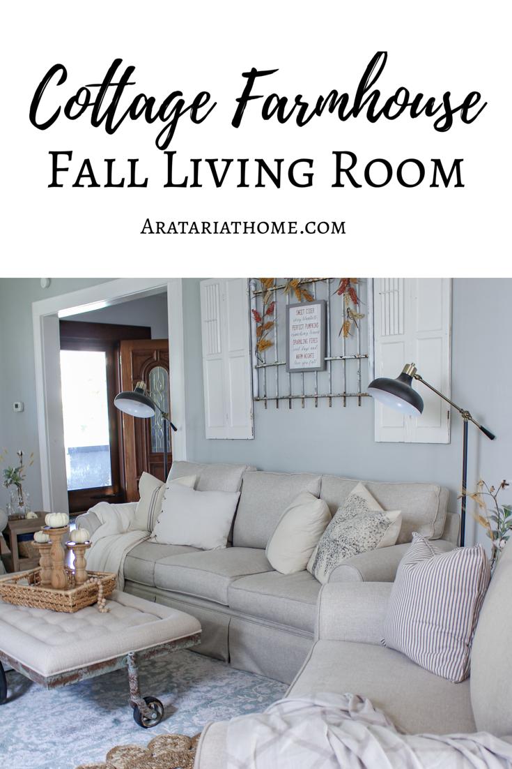 Cottage Farmhouse Fall Living Room