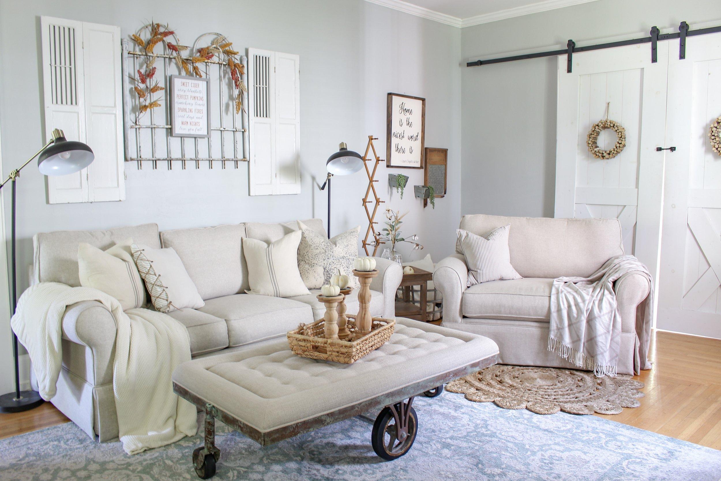 Sofa, chair, and coffee table