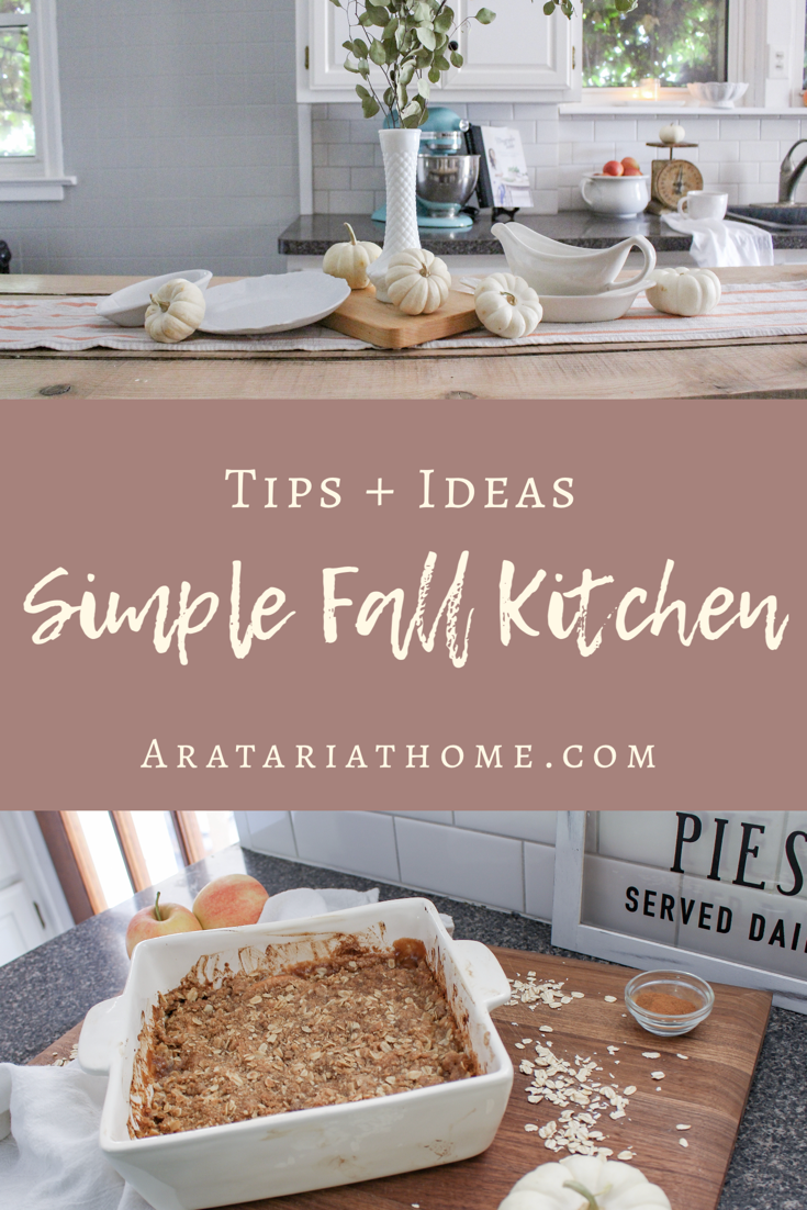 Simple Fall Kitchen