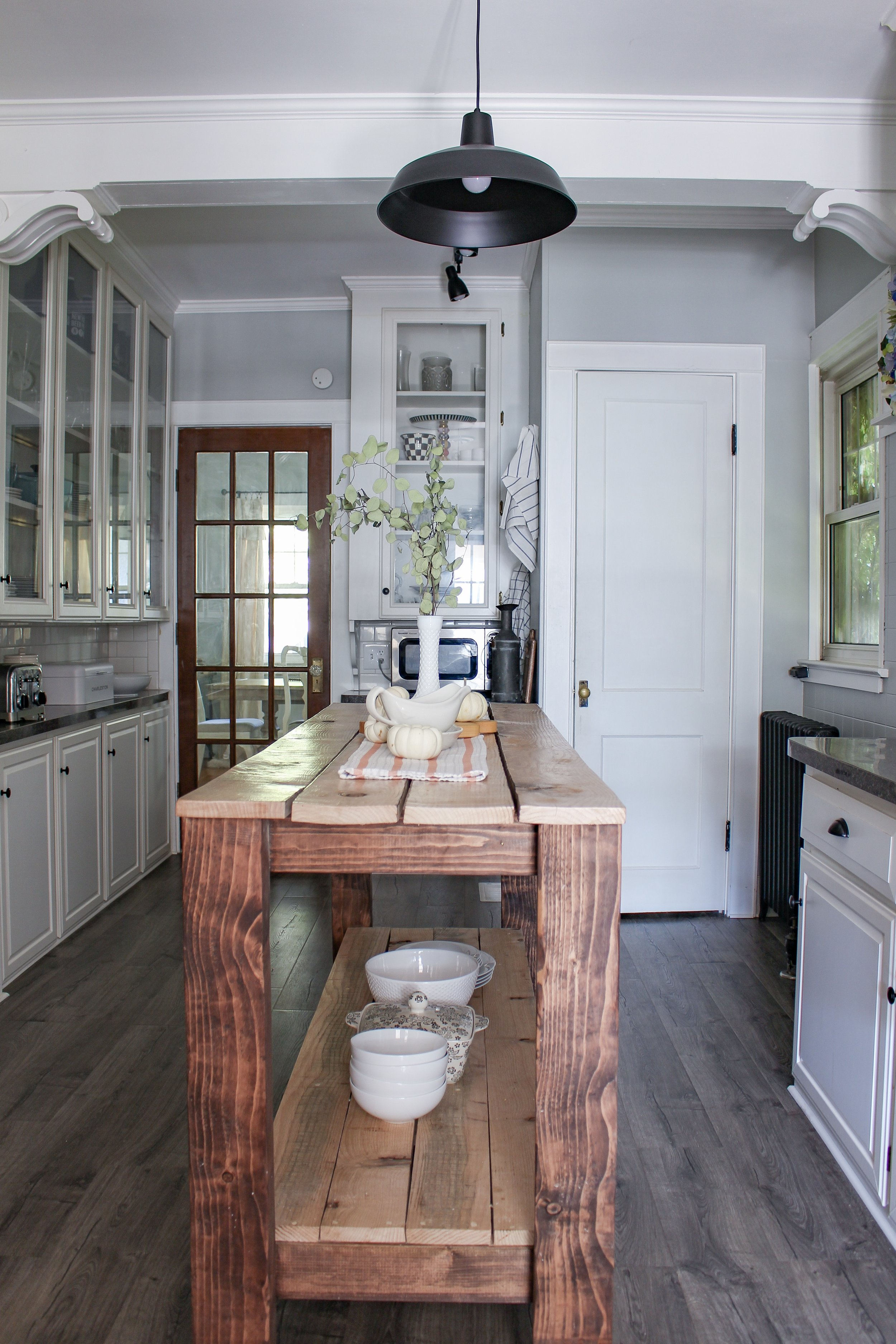 Kitchen light and island