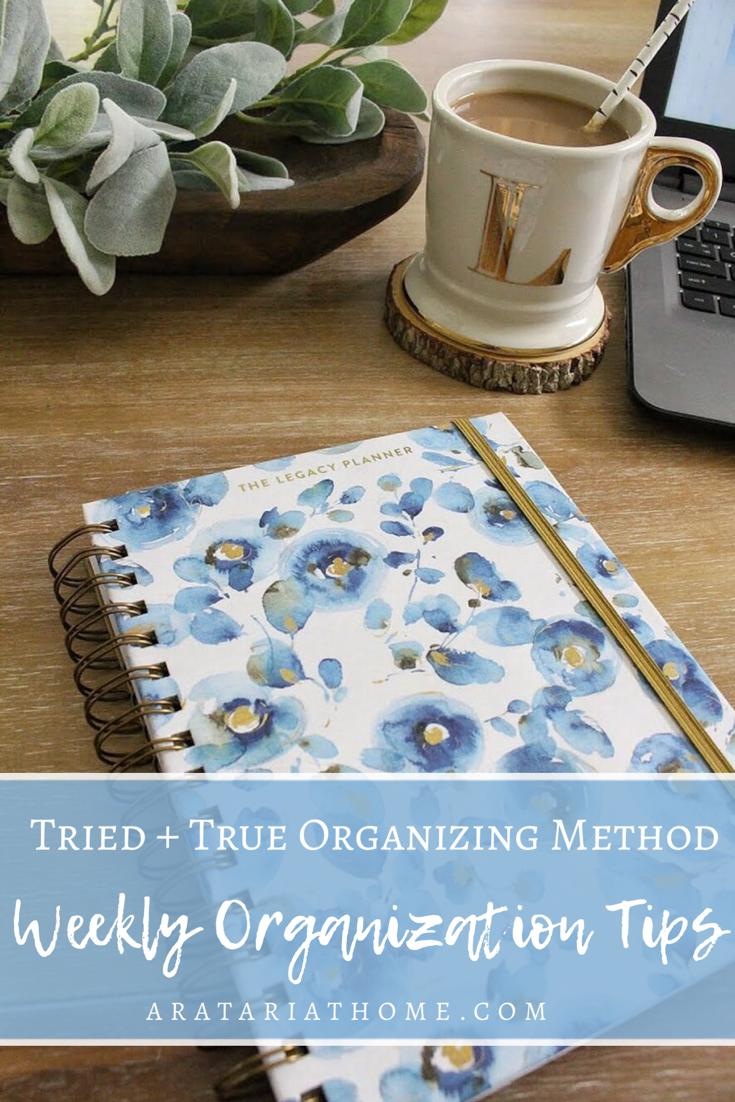 Weekly Organization Tips