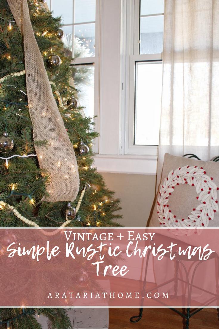 Simple Rustic Christmas Tree Aratari At Home