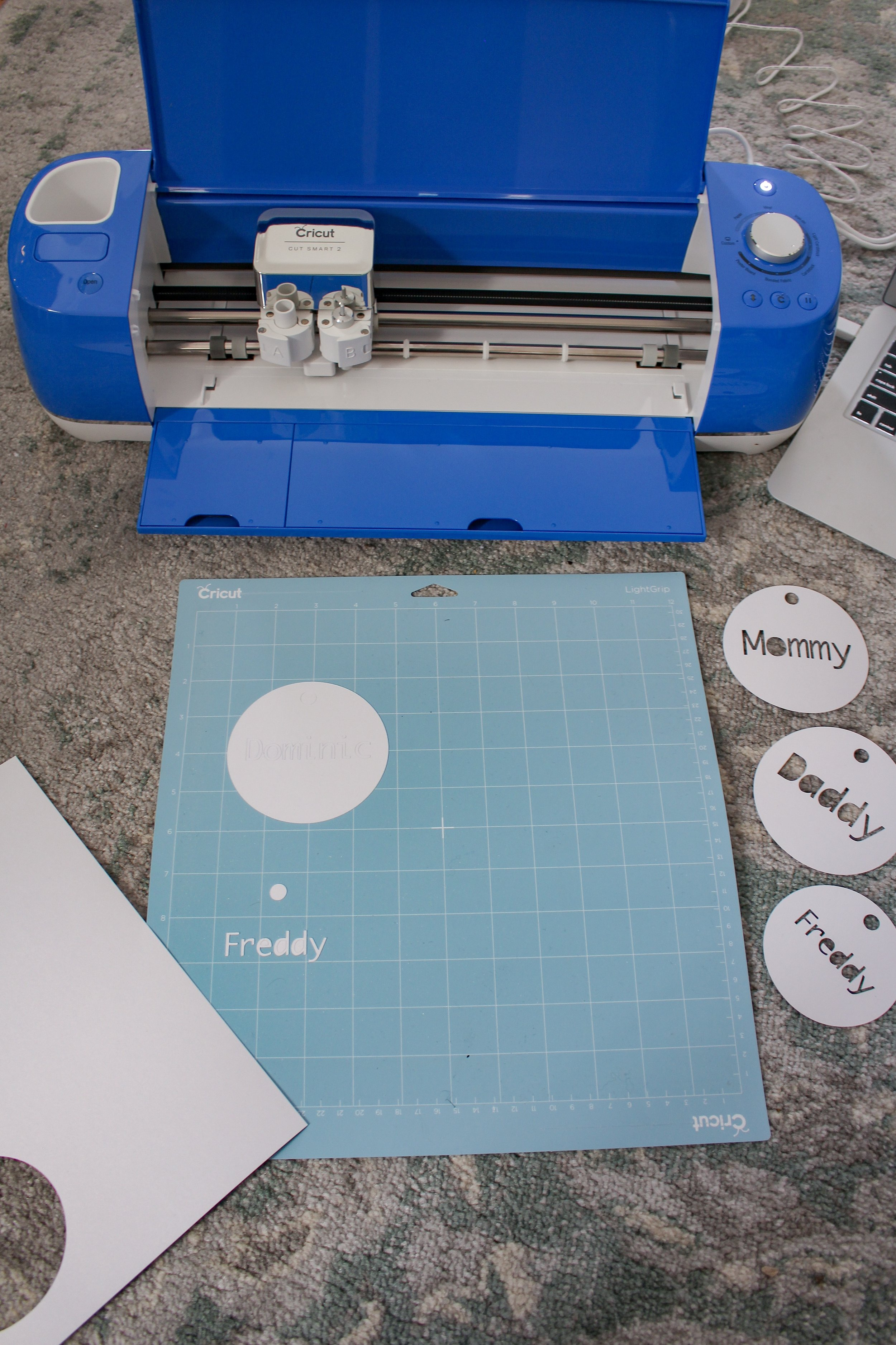 Cricut and stocking tags