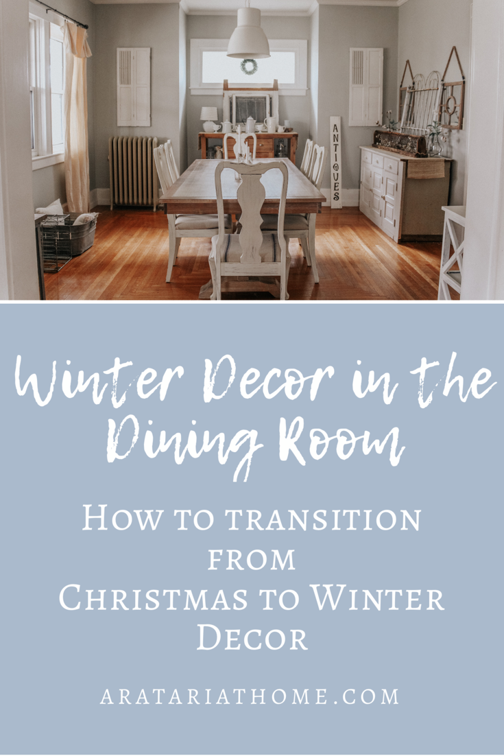 Winter Decor in the Dining Room