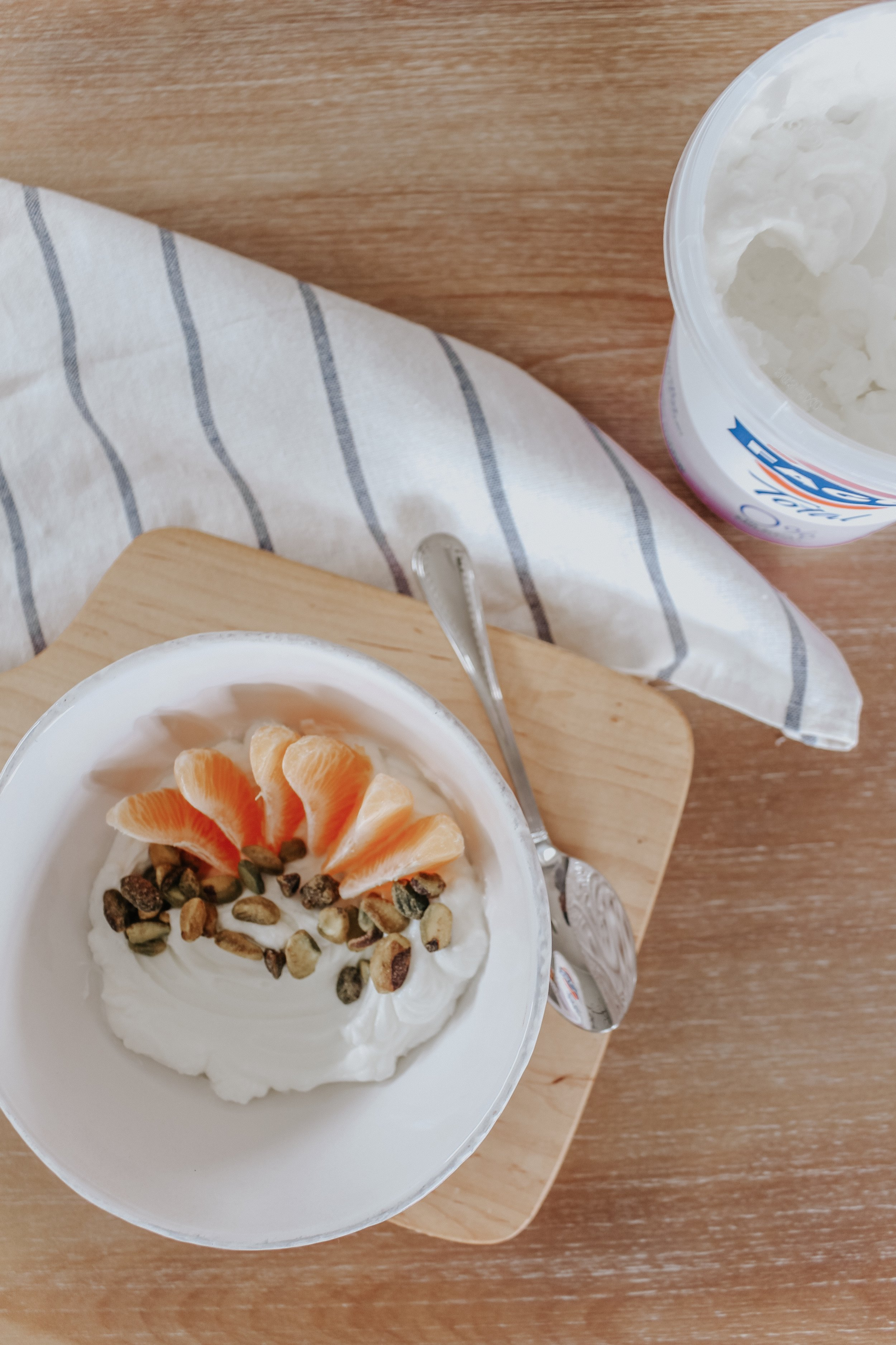 Orange Pistachio Greek Yogurt Bowl