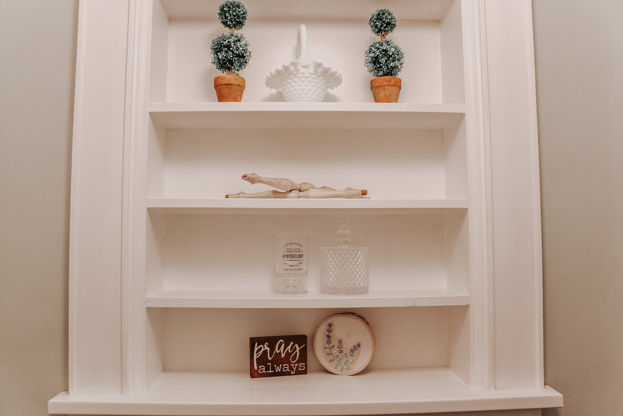 Bathroom Shelving Updates