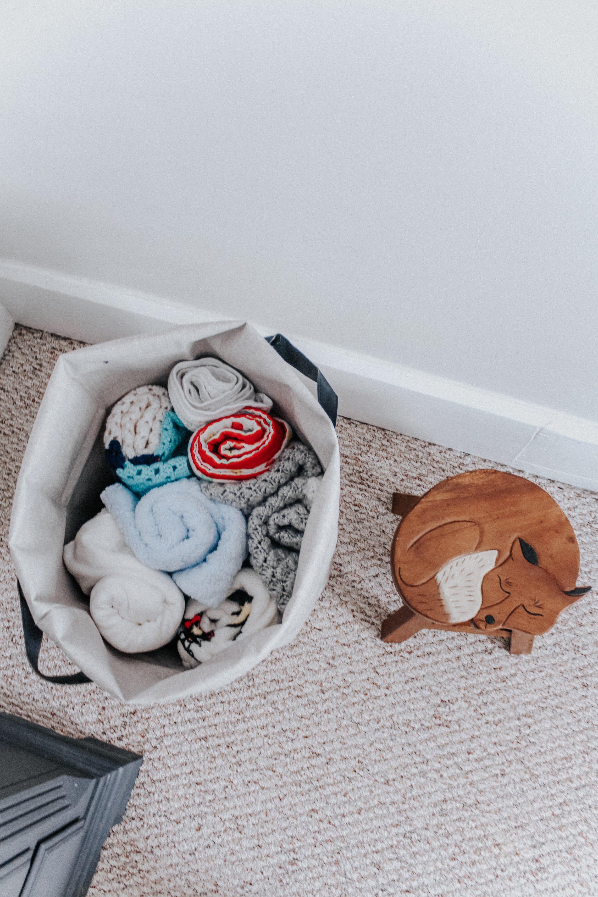 Nursery blanket organization
