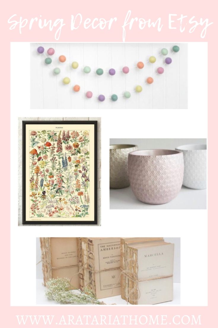 Spring Decor from Etsy