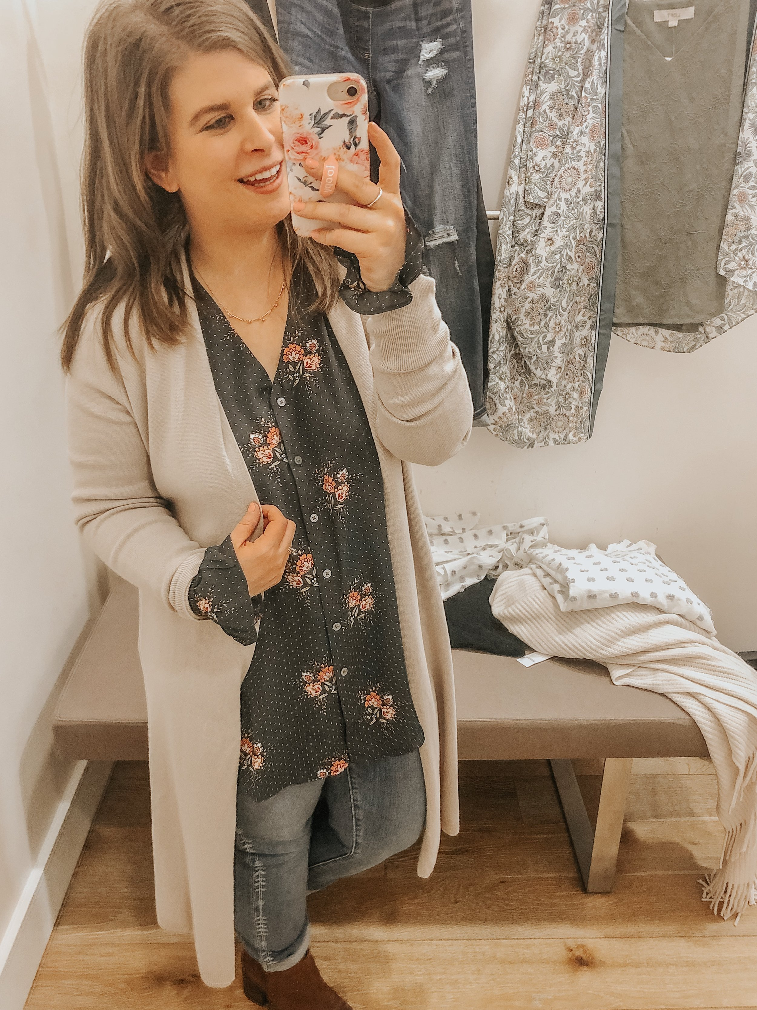 Spring top and cardigan