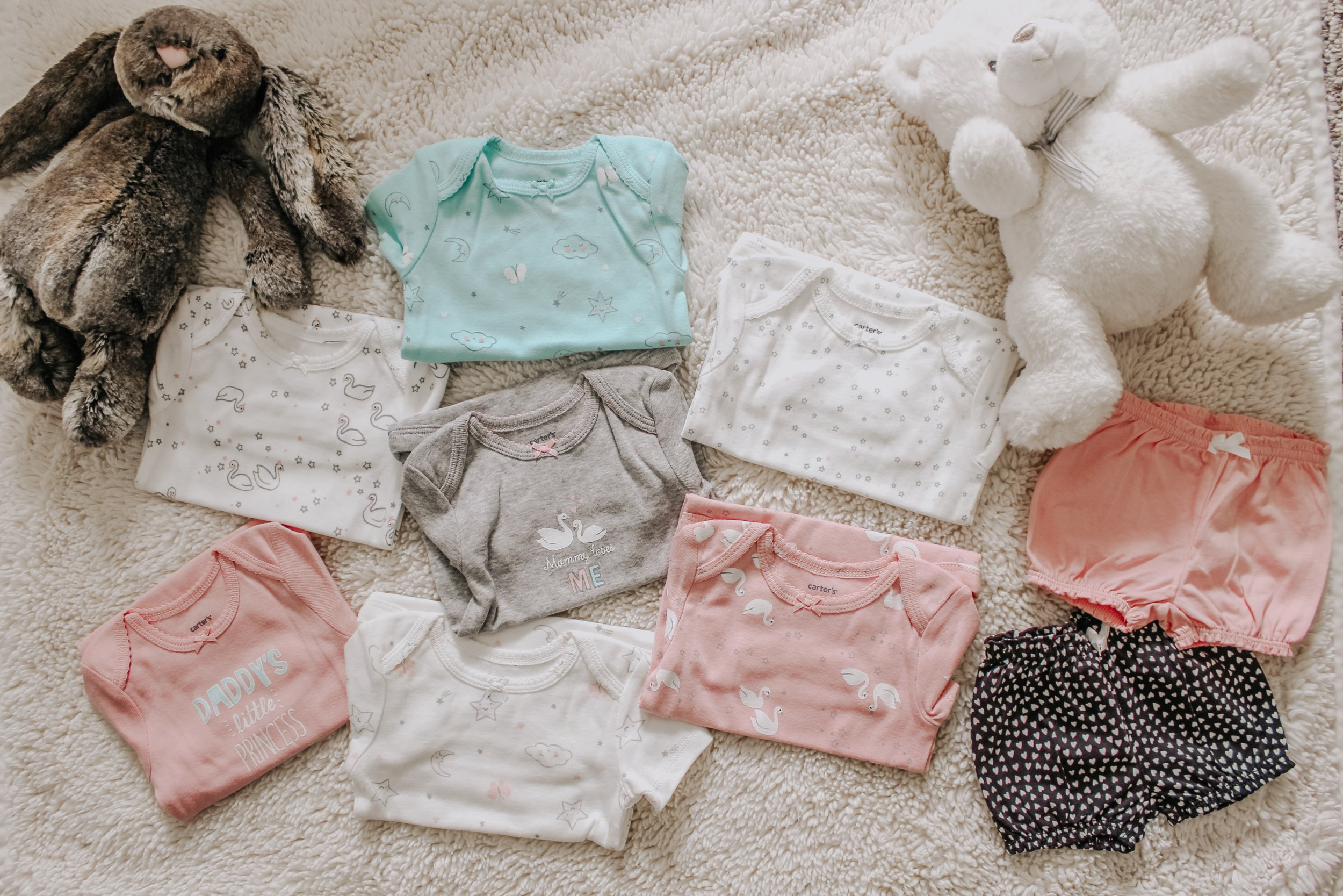 Girl Onesies and Shorts