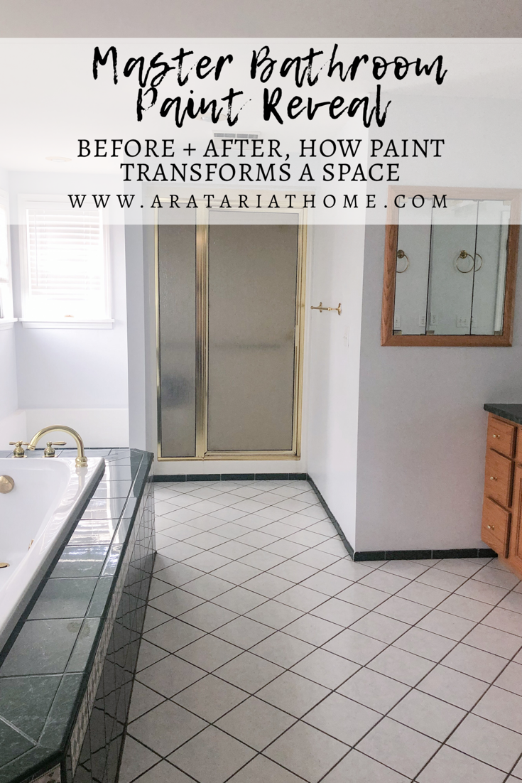 Master Bathroom Paint Reveal