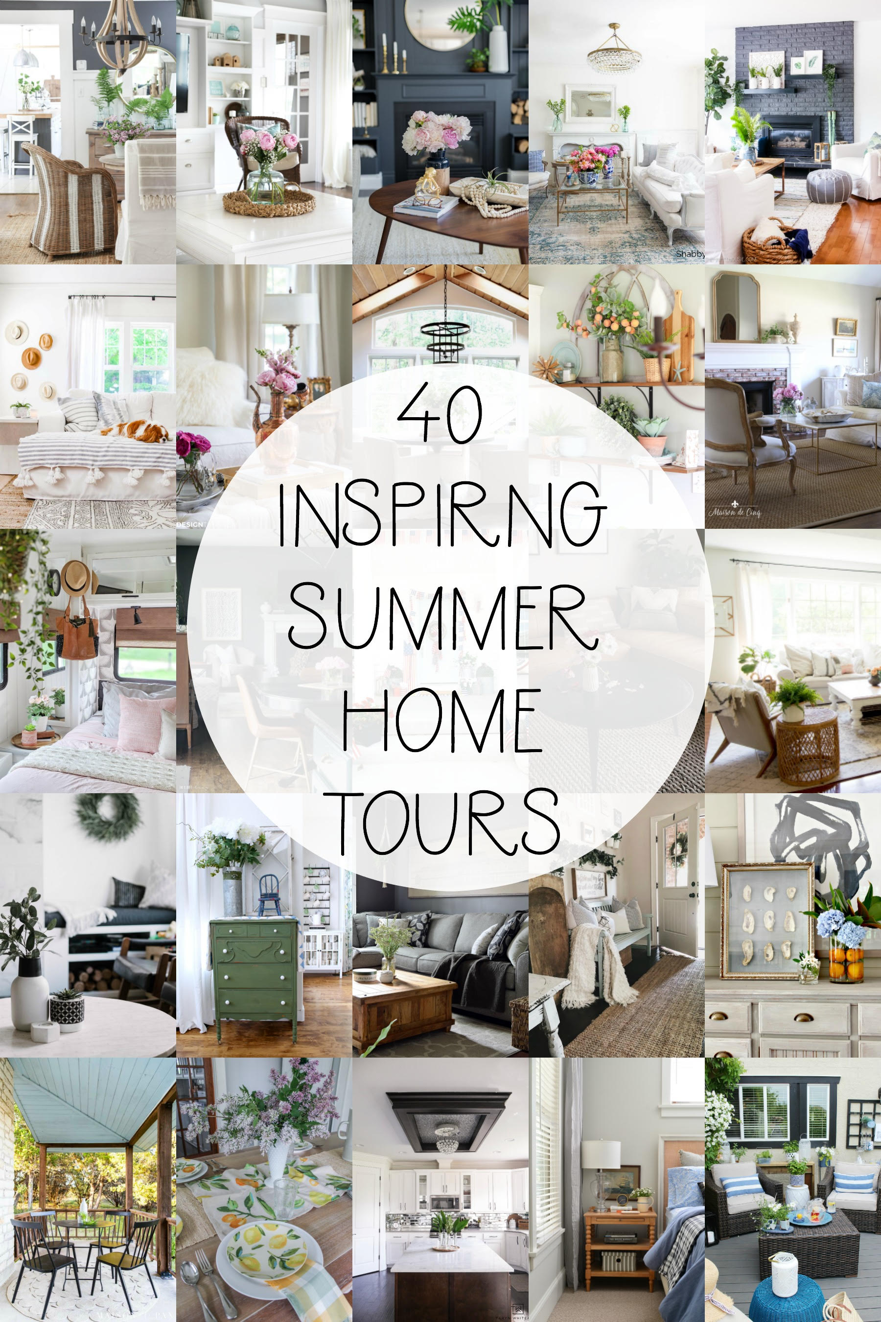 40 Inspiring Summer Home Tours