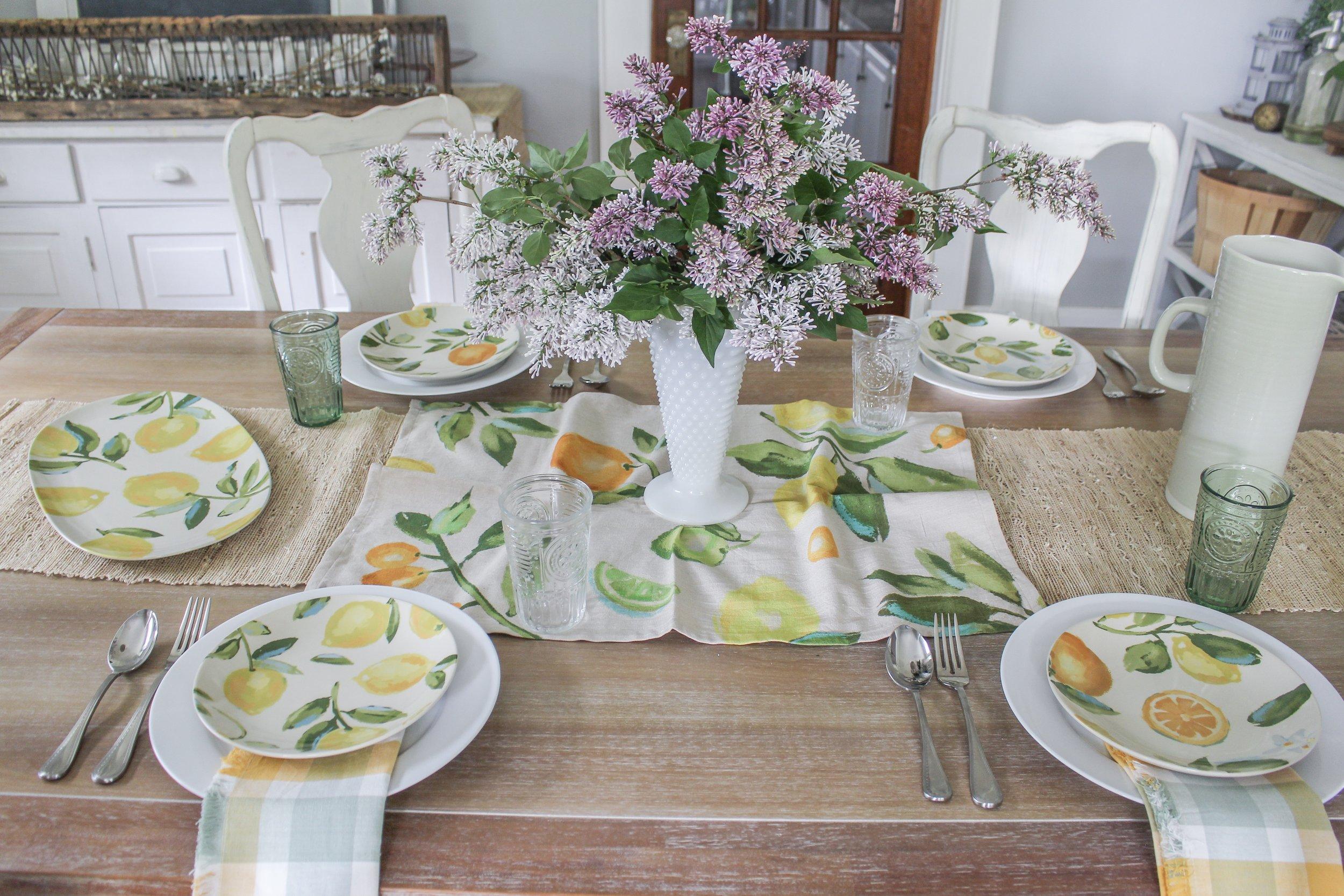 Summer Tablescape Idea