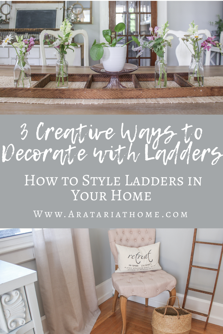3 Creative Ways to Decorate with Ladders