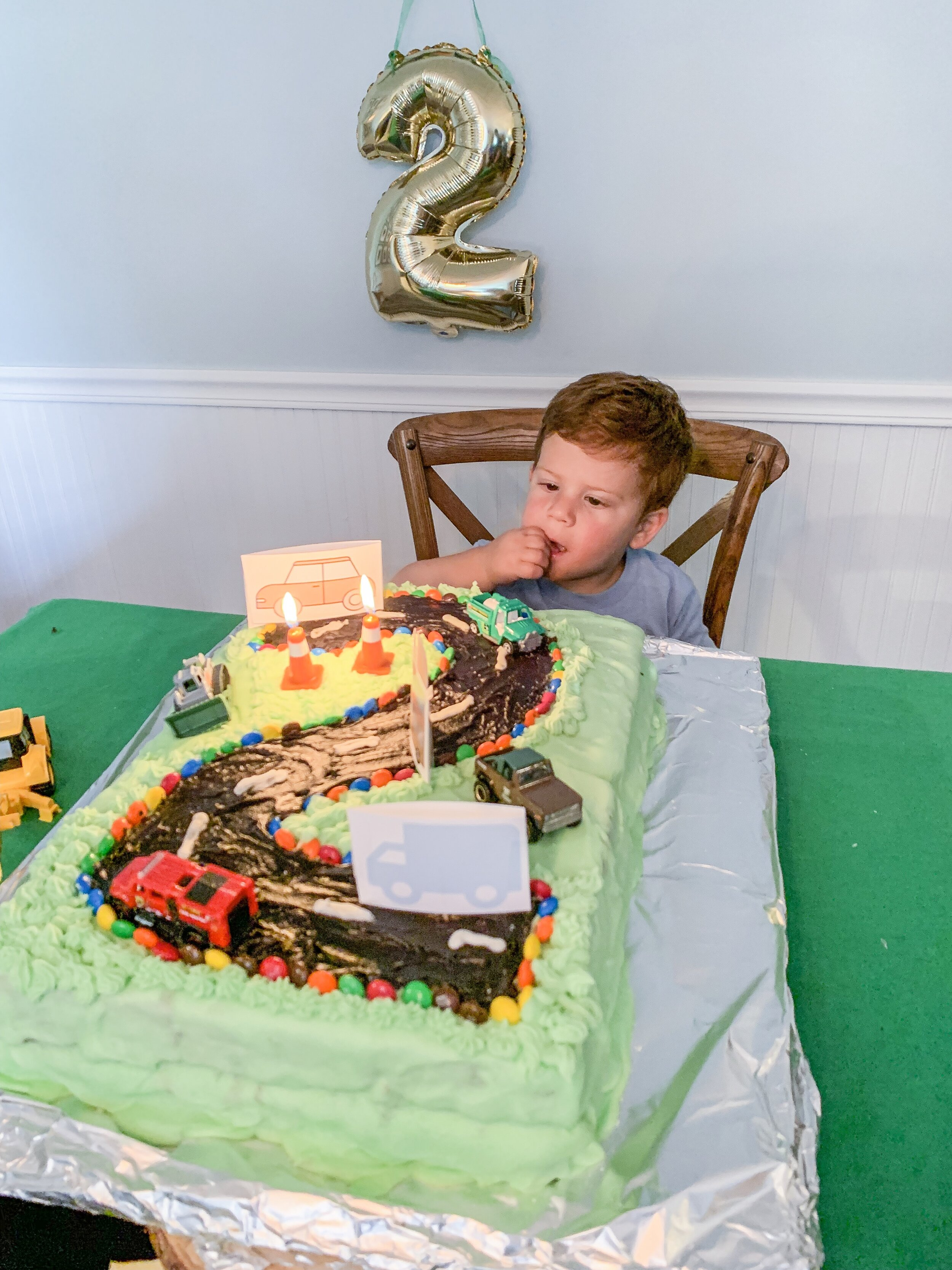 Dominic with his cake