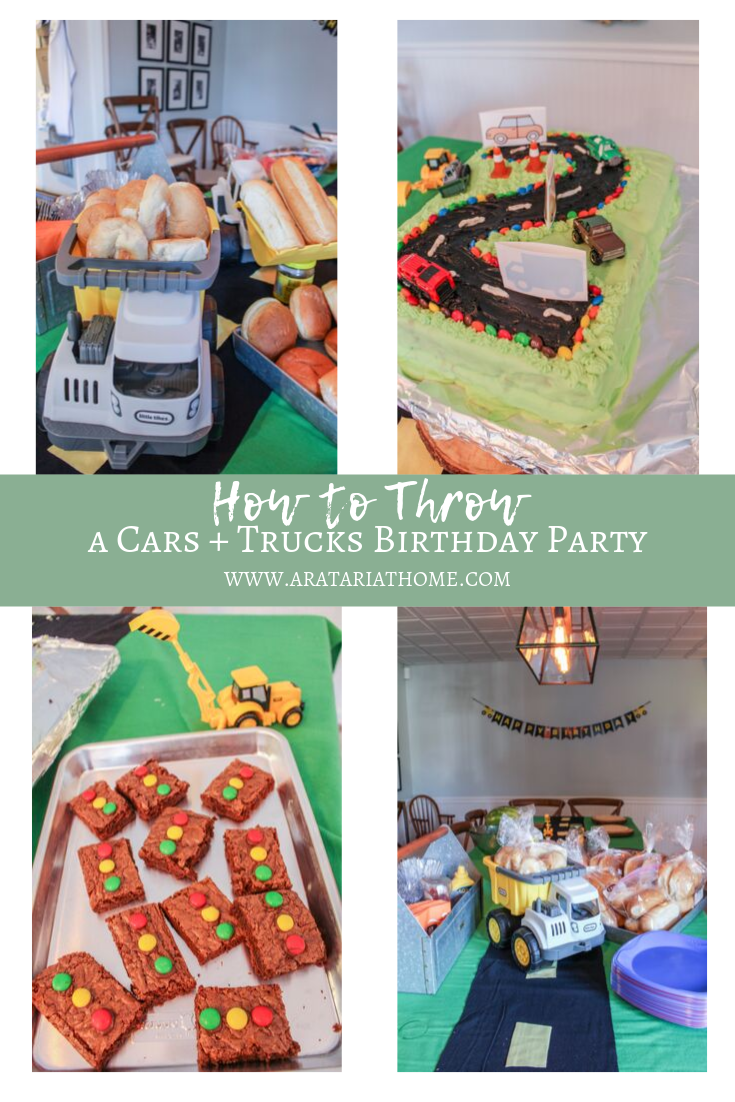 How to Throw a Cars and Trucks Birthday Party