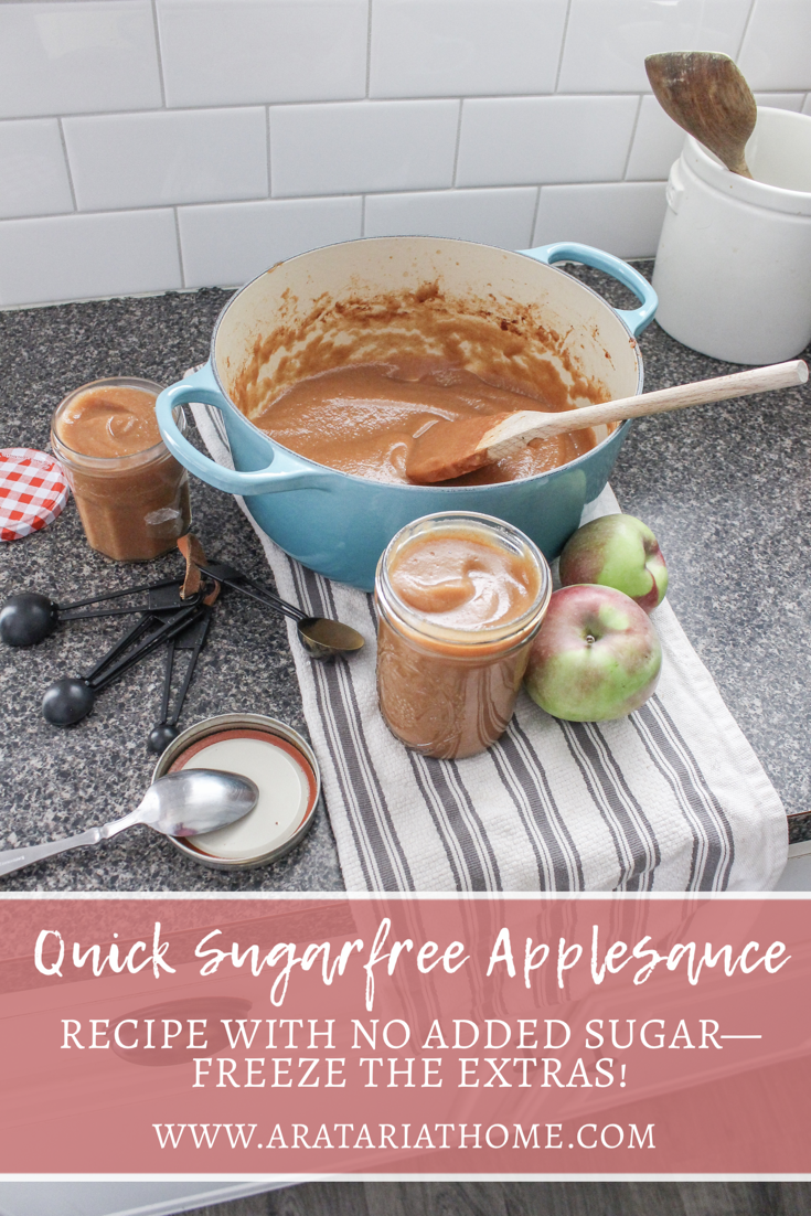 Quick Sugar Free Applesauce