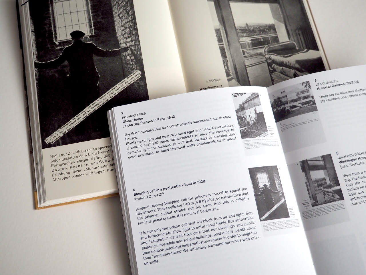 German facsimile and English annotated versions of  Befreites Wohnen / Liberated Dwelling . Courtesy Reto Geiser.