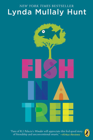 """Fish in a Tree    Sixth grader Ally struggles with school and is considered """"dumb"""" and a """"pest"""" by most teachers — until she gets in Mr. Daniels's class. Her life turns around when this teacher realizes she struggles with dyslexia and brings out the best in her."""