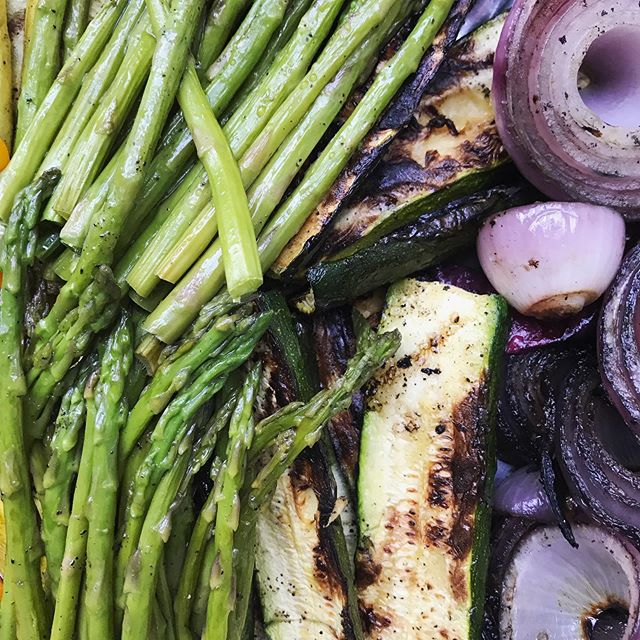 HBD @shaunbrafferty! Grilled vegetable spread for our favorite #65 year old! #familydinner   Black Tellicherry Peppercorn, Arabian Sea Salt #royallyspicy