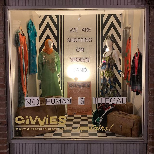 Today we are closed for Abolish Immigration and Customs Enforcement Day. People are not objects. Our borders are a lie. Humans of all cultures deserve a place here, no human is illegal!  We acknowledge everything we know in the world of fashion comes from marginalized people, specifically the indigenous people who's world were living in. We are all occupying stolen land and today is no different.  See you tomorrow.