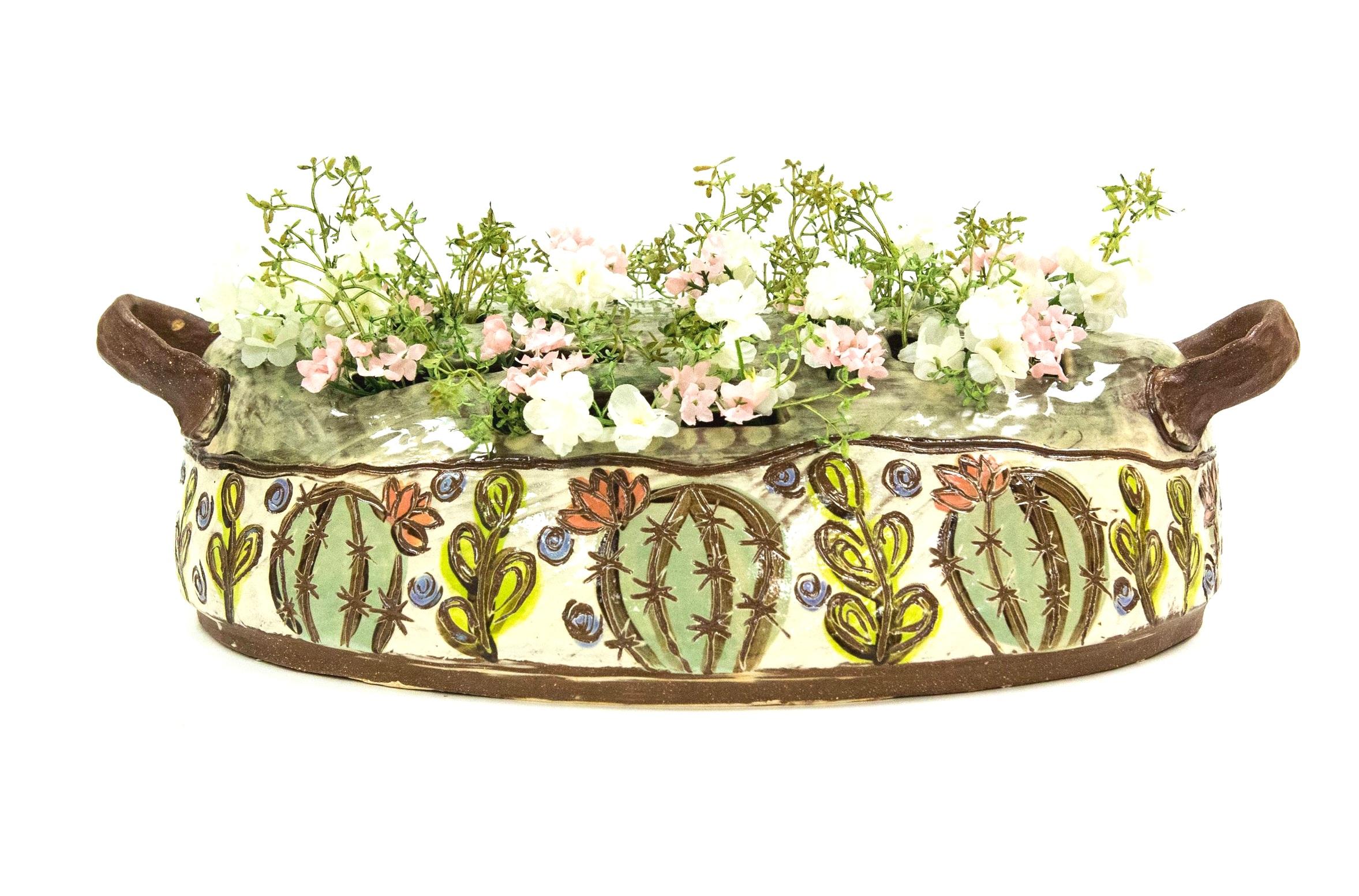 Flower Basket, Terracotta, Δ3 Oxidation, 2018