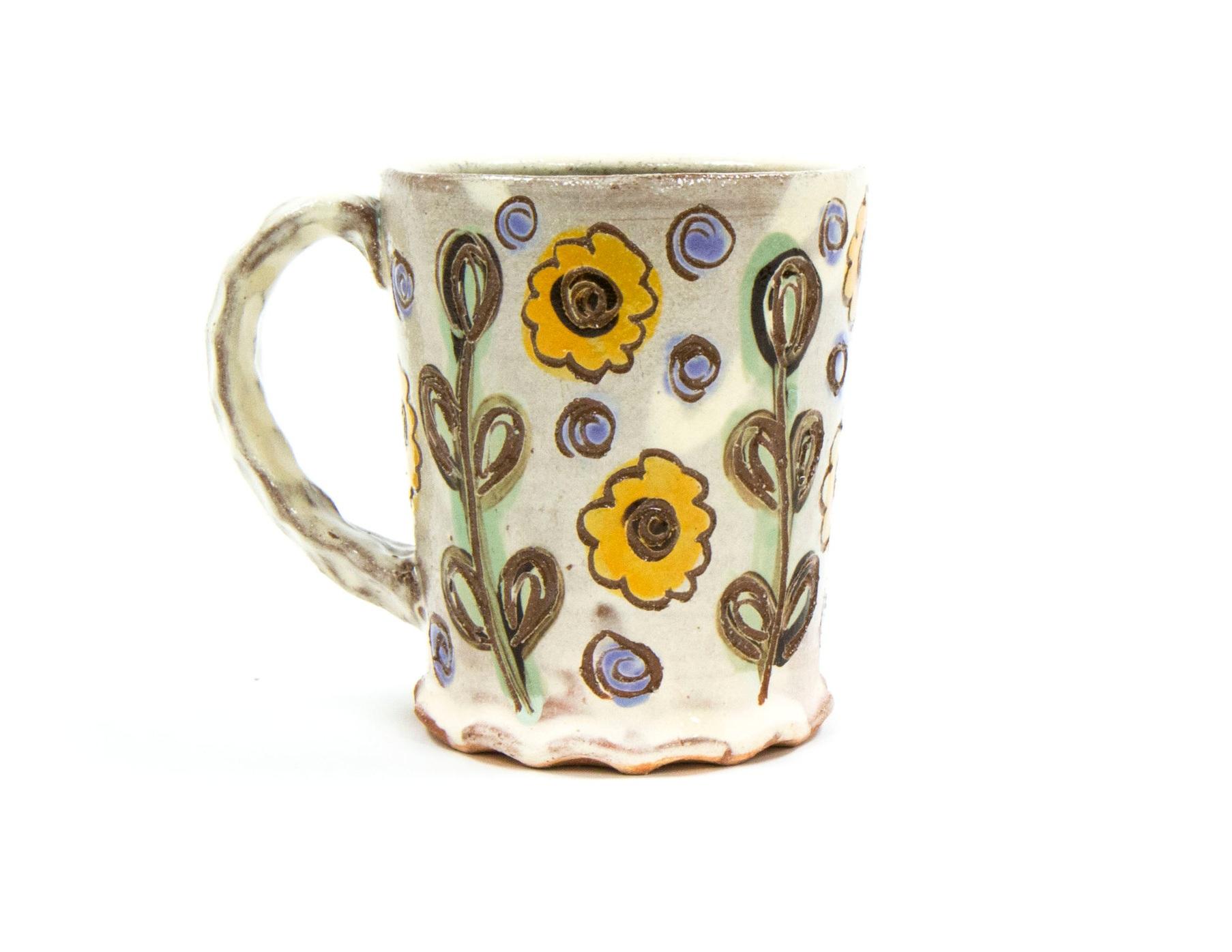 Floral Mug, Terracotta, Δ3 Oxidation, 2019