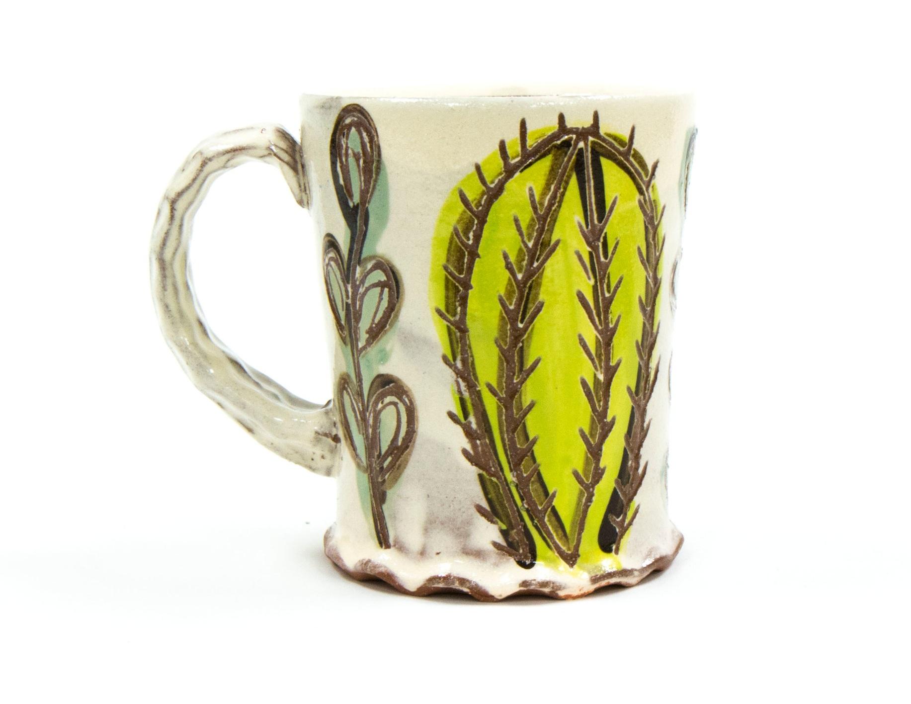Cacti Mug, Terracotta, Δ3 Oxidation, 2019
