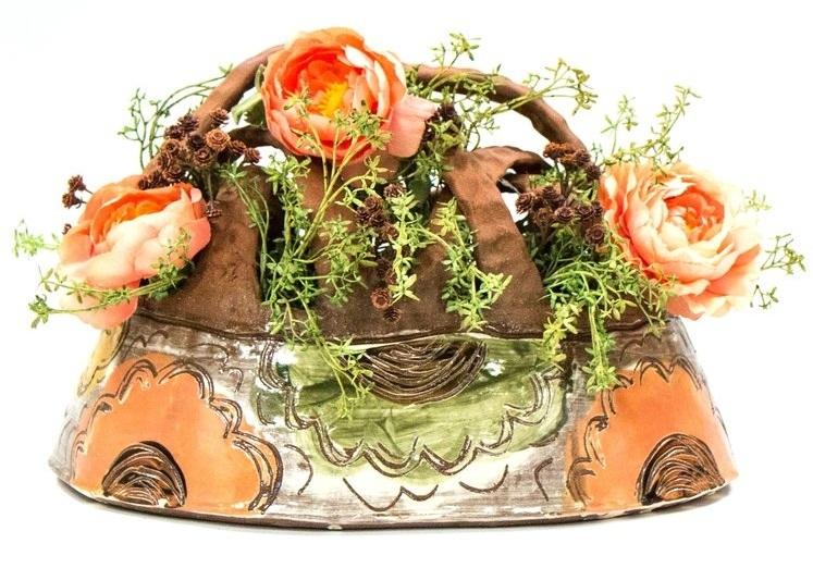 Flower Basket, Terracotta, Δ3 Oxidation, 2019