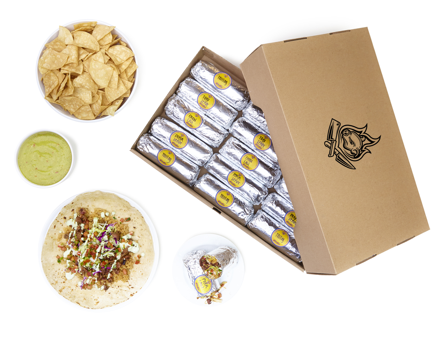 - Mix and match our Senor Sisig classics, the Senor, Cali or Tosilog burrito. Burritos are served with chips and salsa.