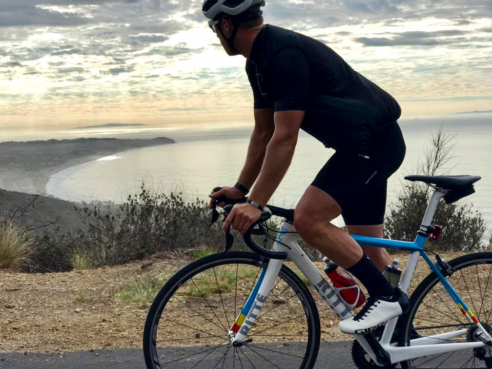 Up and over the first climb of the day: Encinal Canyon.  Photo courtesy of Liutauras Rusaitis // Instagram @liutaurasr