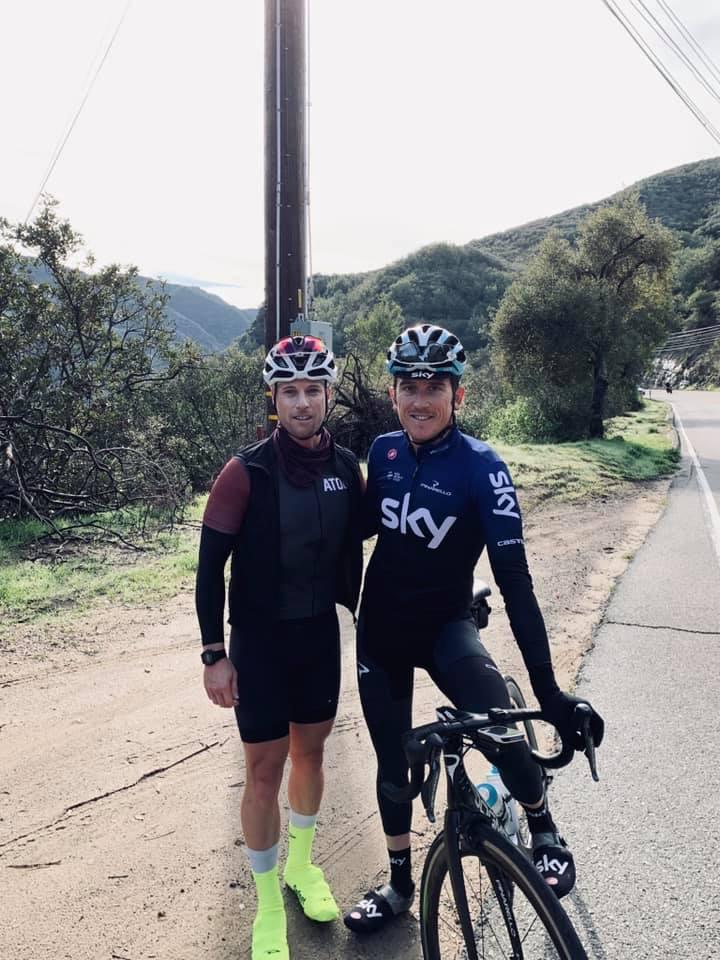 Hubbard (left); Tour de France winner (right). Cheers Geraint!
