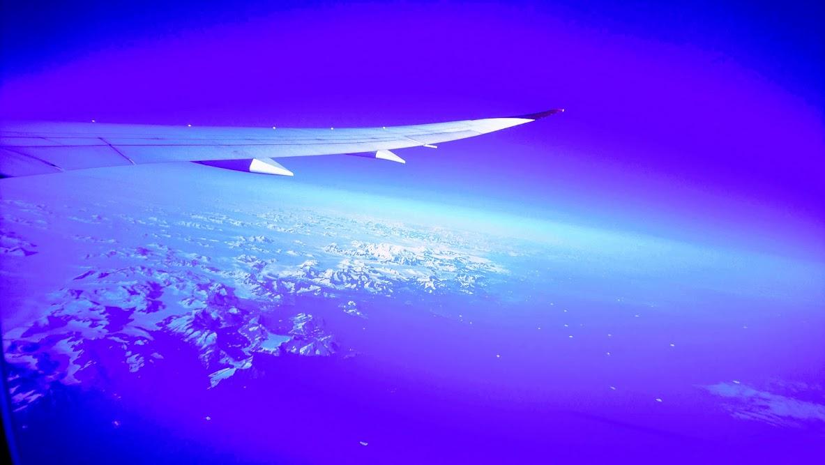 Flying over Greenlandic ice bergs