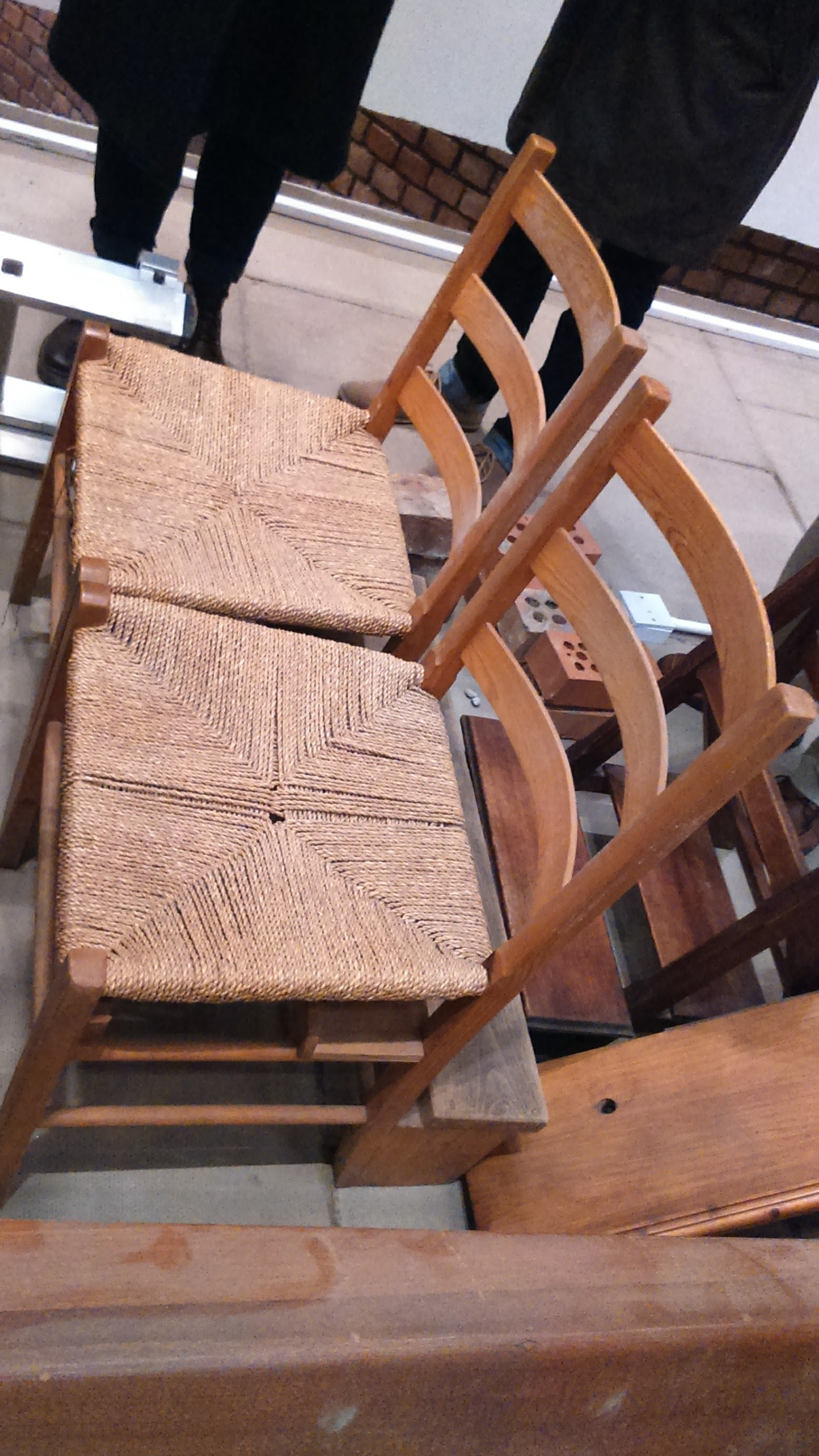 It's possible the chairs are not Gillespie, Kidd and Coia originals. Then again, they might be. I have no idea.