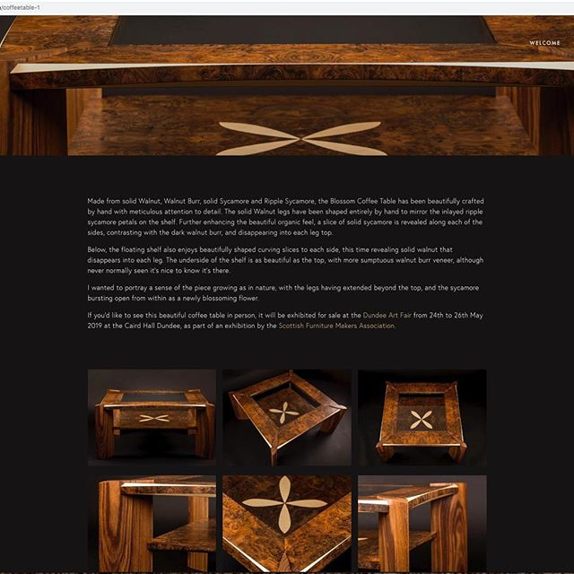 Website updated with details of The Blossom coffee table. See link in bio #woodwork #cabinetmaker #handtools #finefurniture #cabinetmaking #furnituredesign #woodshop #furnituremaker #finewoodworking #handcraft #woodcraft #woodart #workshop #craft #craftmanship #bestIGwoodworking #dowoodworking #woodworkingskills #woodlovers #handmade #bespoke