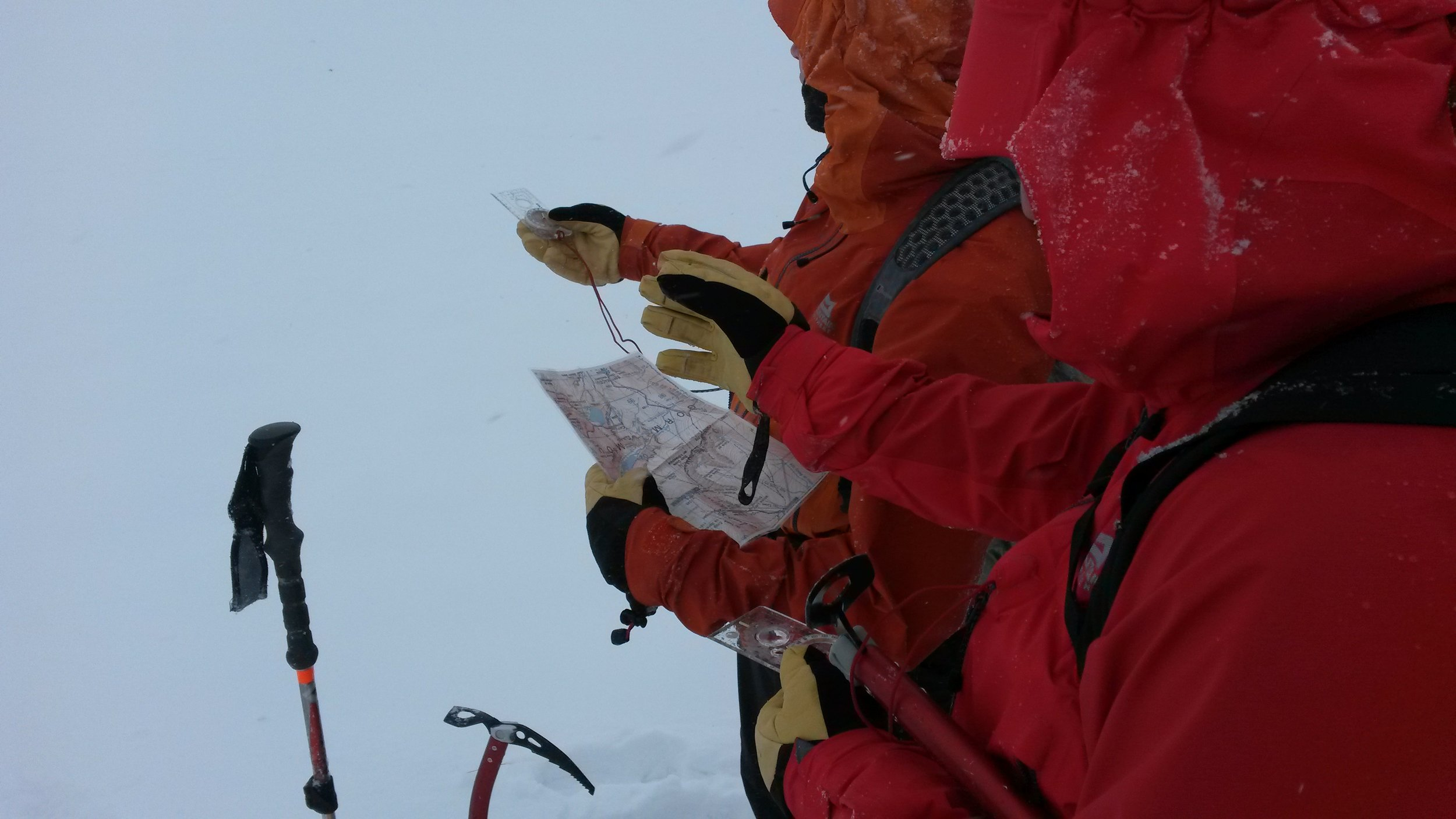 Navigating on the Cairngorm Plateau, Winter 2016