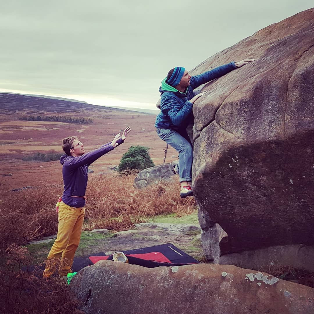 November some climbing, some time at home to unwind after a busy year, taking the dog for walks and doing lots of DIY! It was fantastic after over ten years of involvement to be able to attend Llanberis Mountain Rescue team's 50th celebrations. Oh and even do the odd day of work - Bouldering in the Peak