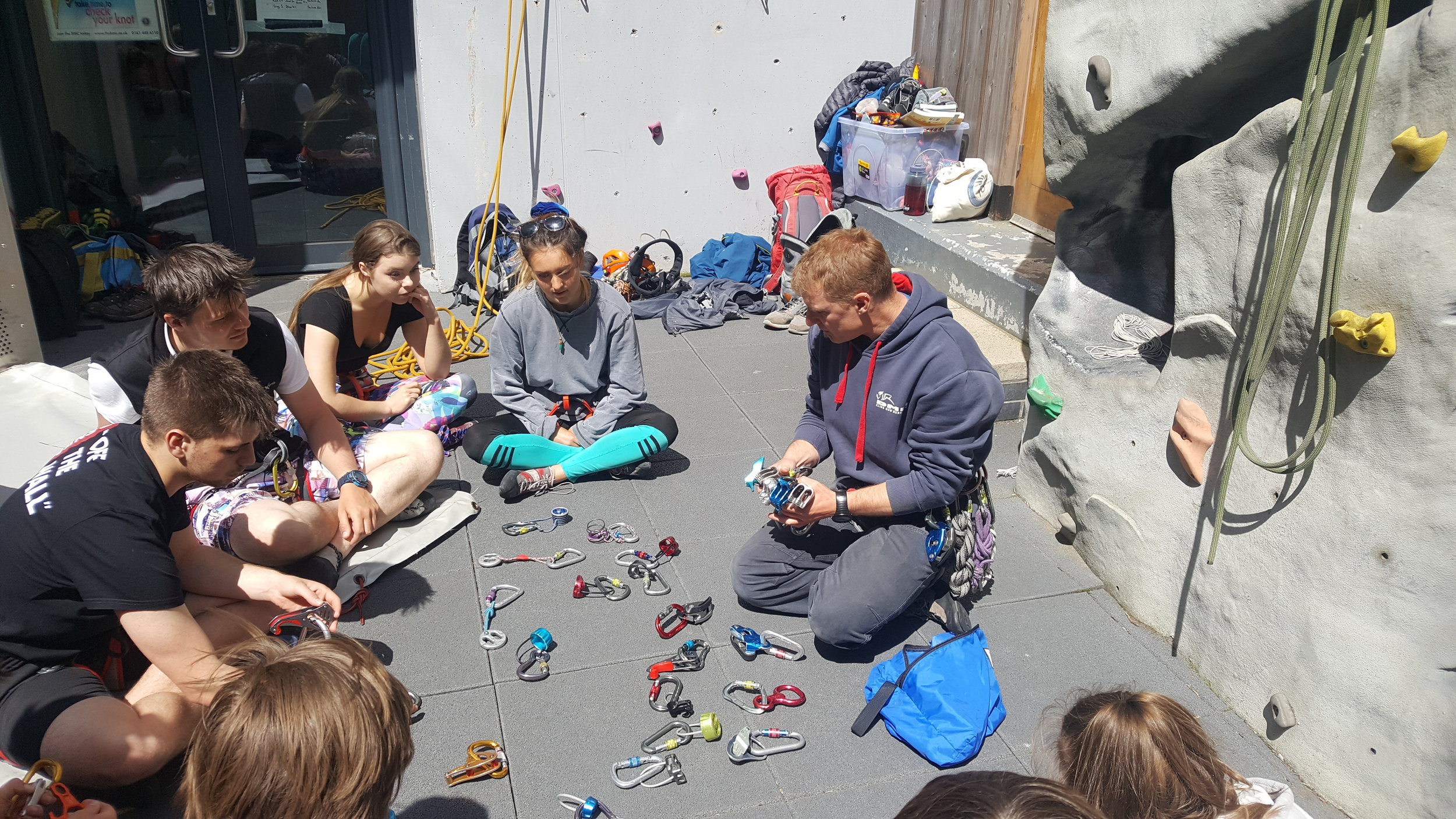Mark sharing thoughts on belay devices