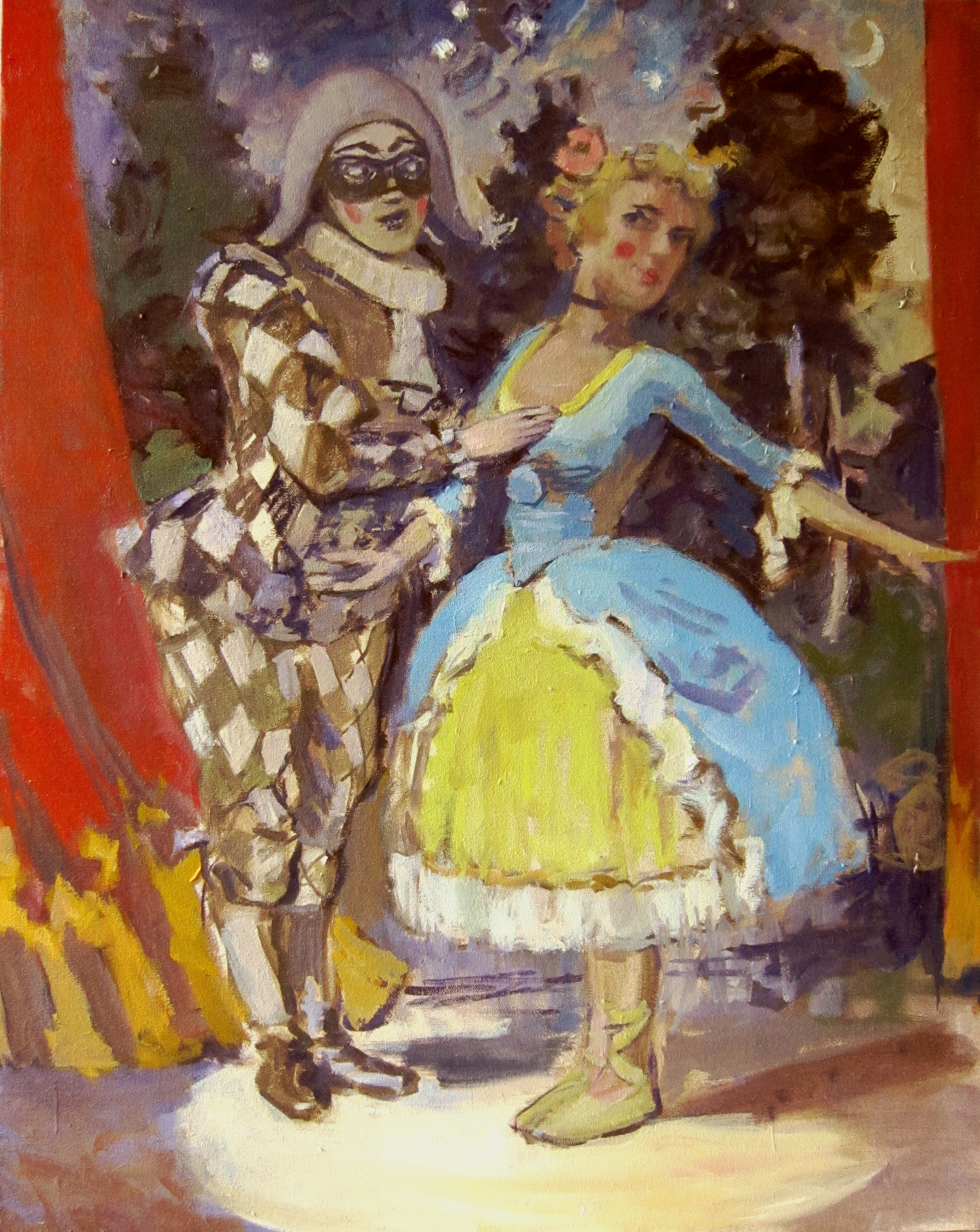 Harlequin and Colombina
