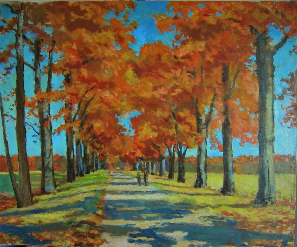 Autumn Alley. Upstate NY