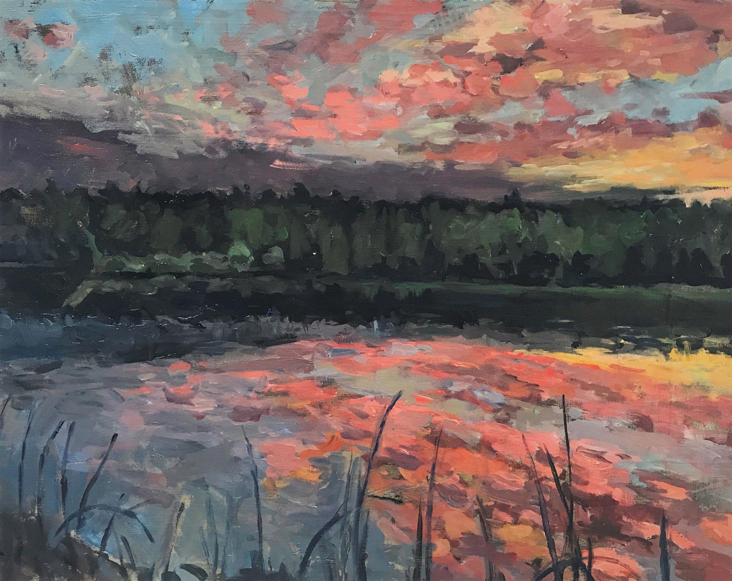Lake Mansfield. Sunset. Berkshires