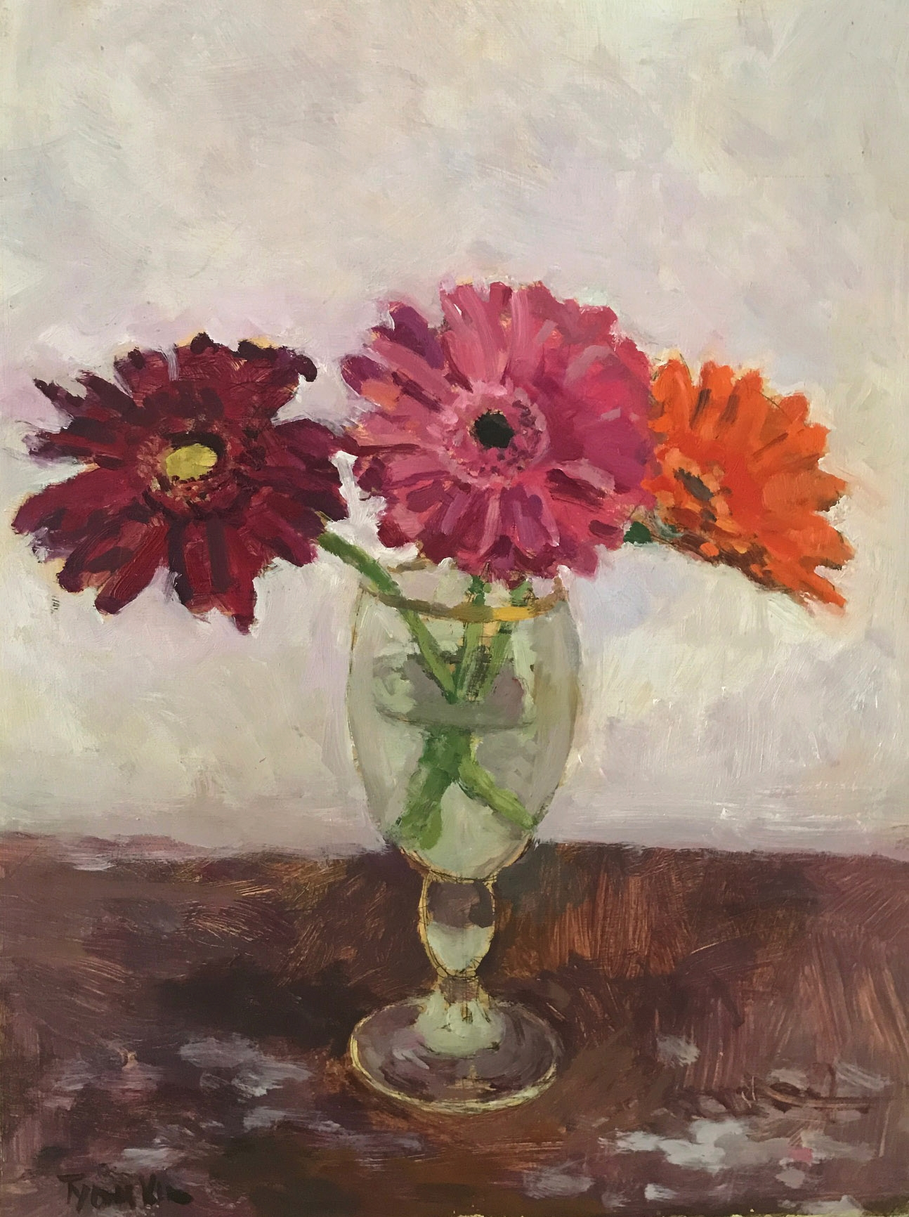 Flowers in a Beer Glass