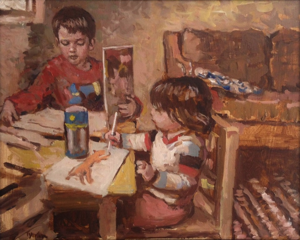 children - Children's lives are fluid and full of changing emotions. My goal is to capture a fleeting moment in their lives and make it live on in the painting.