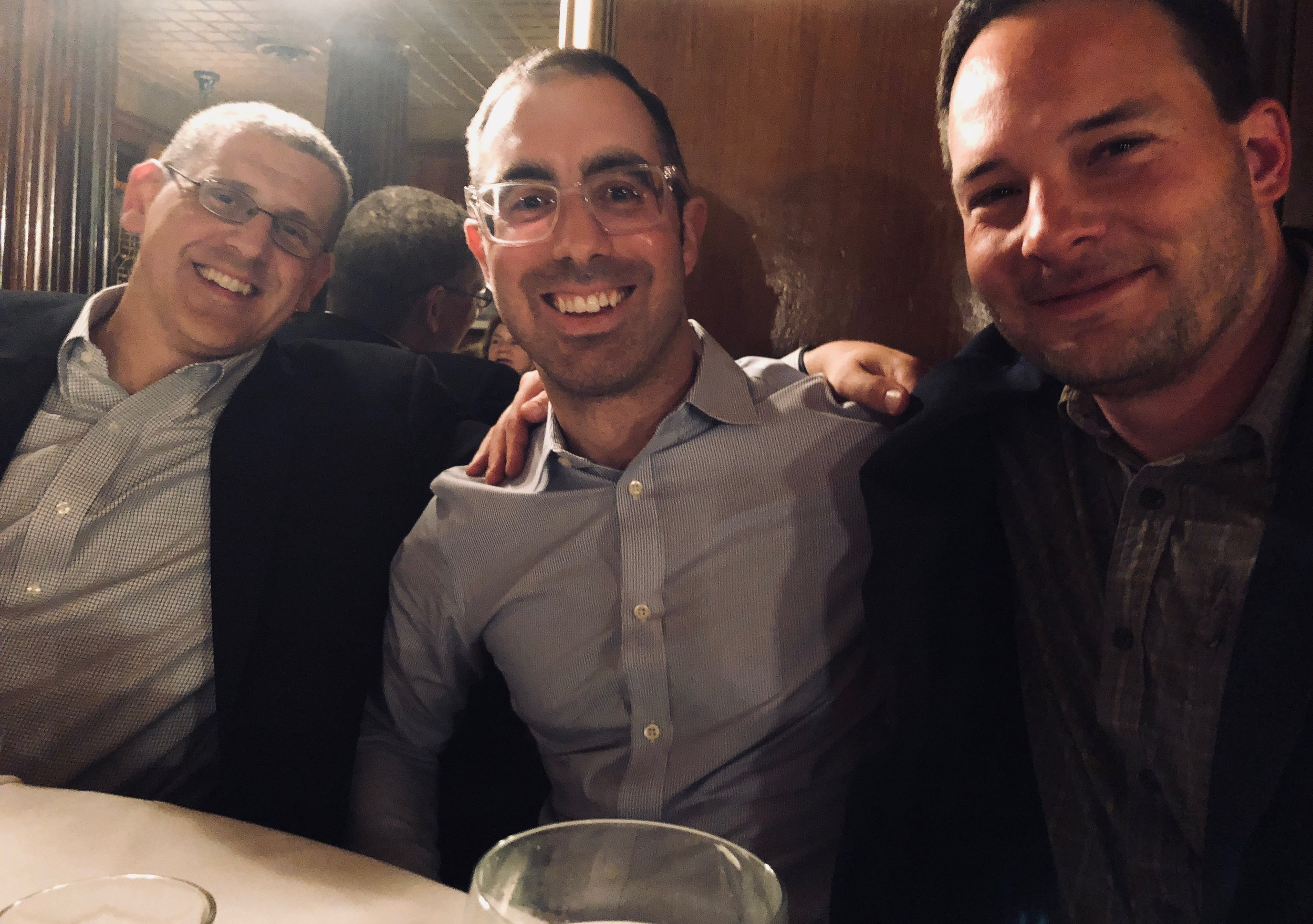 07/22/2018: Jeremy with friends Drs.  Nick Seyfried  and  Tom Kukar  at AAIC in Chicago.