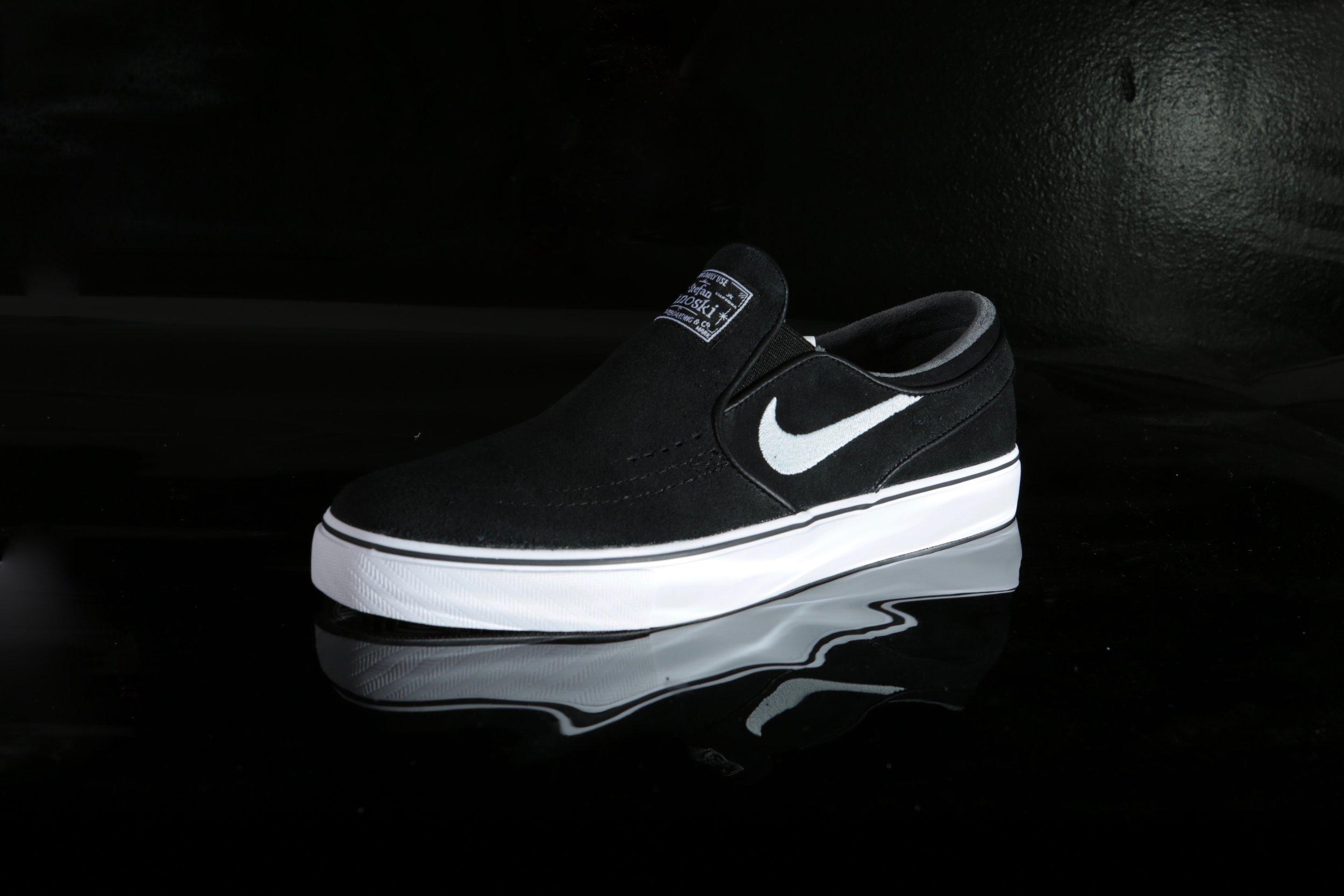 Black Nike Zoom Stefan Janoski Slip